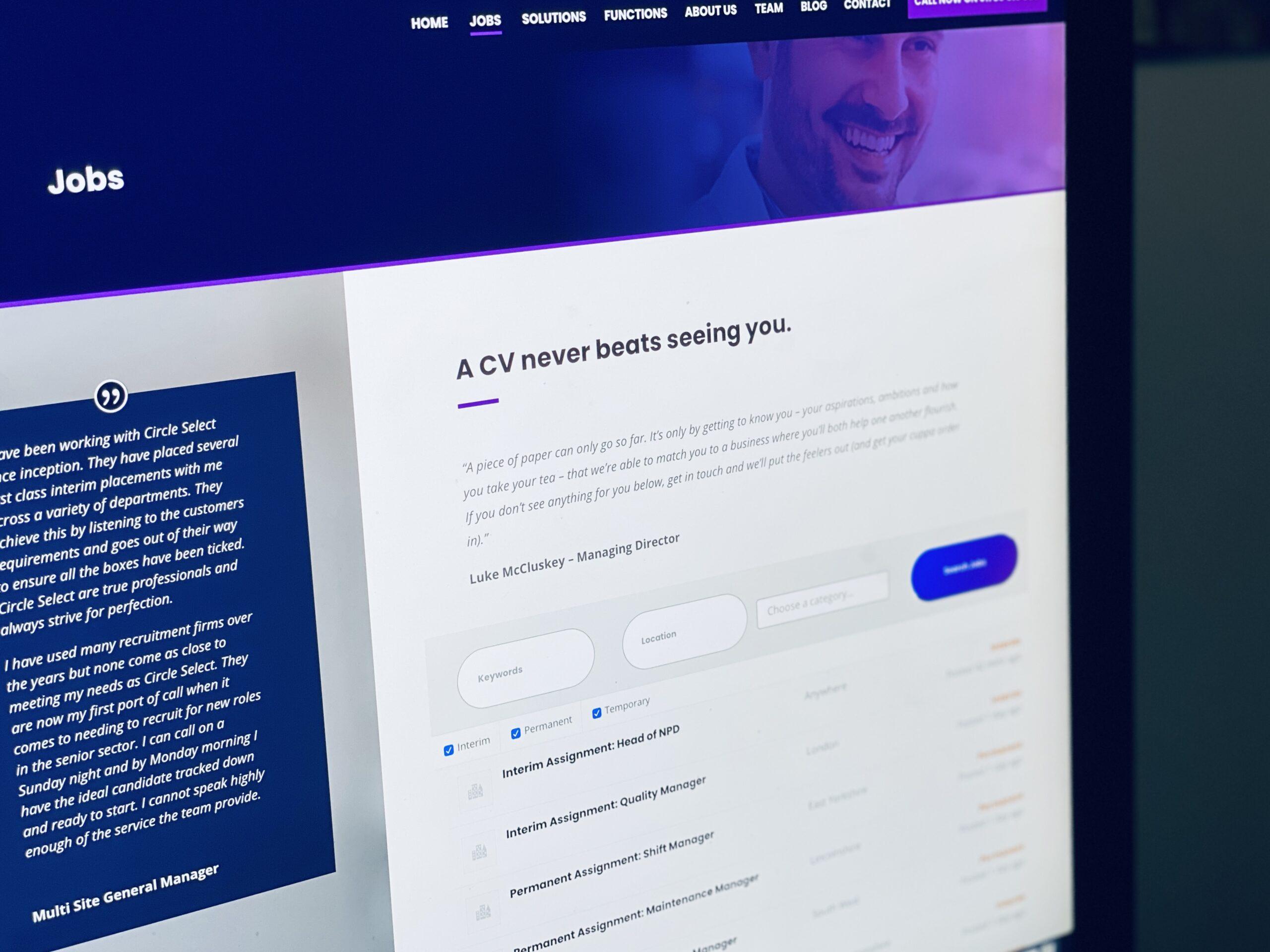 Rebranding Recruitment Agency Circle Select